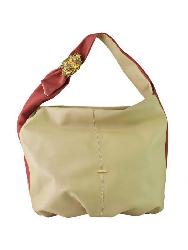 Shop Scintilla Hobo Italian Leather Bag in UAE