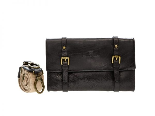 Wayfarer Leather Satchel For Ladies - Black, Brown, Military Green