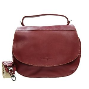 Wayfarer Ladies Leather Hobo - Black, Dark Brown, Cherry Color