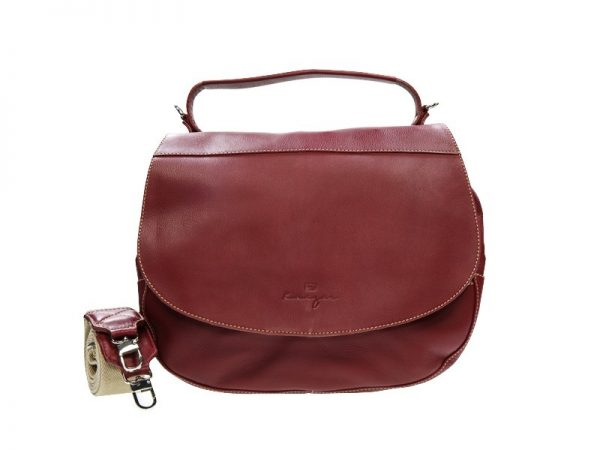 Wayfarer Ladies Leather Hobo - Black, Dark Brown, Cherry Color