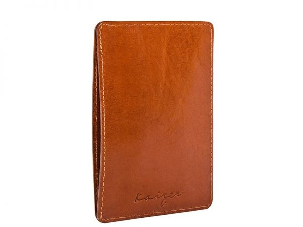 Duncan Leather Card Holder in Brown & Tan colors KD905