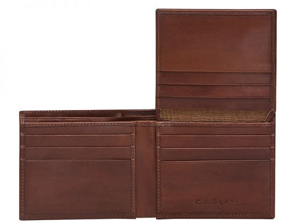 Zenith Men's Leather Wallet in Brown Color KZ560