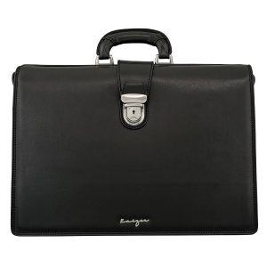 Statesman Leather Diplomat Bag - Men's Business Bags - Black, Brown Color
