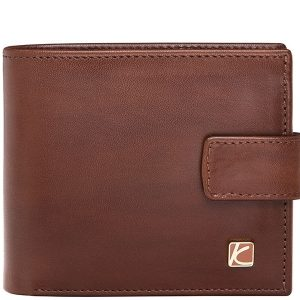 Duncan Leather Wallet For Men in Brown & Black Color KD527