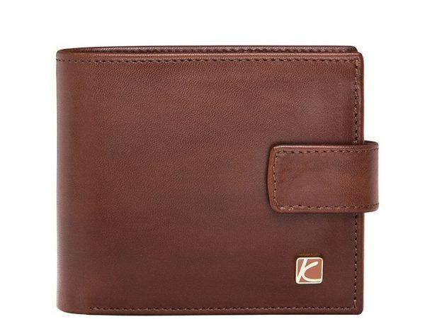 Duncan Leather Wallet For Men in Brown & Black Color KD527