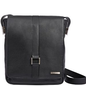 Sage Leather Messenger Bag For Men in Black Color KA1324