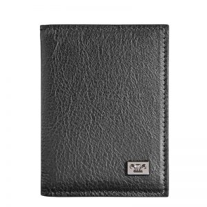 Statesman Leather Business Card Holder in Brown & Black KZ928