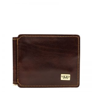 Statesman Leather Money Clip Wallet For Men - Black, Brown Color