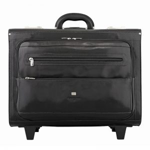 Buy Statesman Pilottrolley Leather Travel Bag For Men