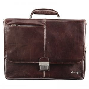 Statesman Leather Business Bag For Men - Black, Brown Color