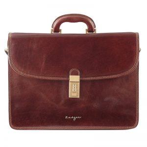 Statesman Men's Leather Business Bag - Black, Brown Color