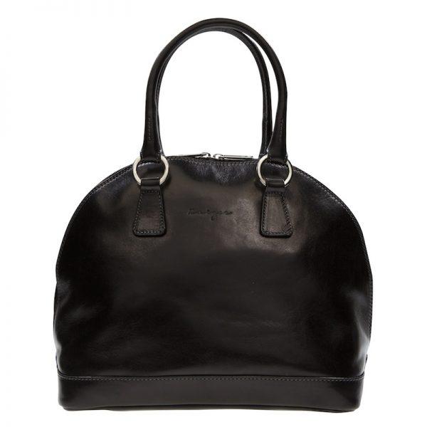 Absolute Leather Black Satchel - Ladies Hobos KZ1866