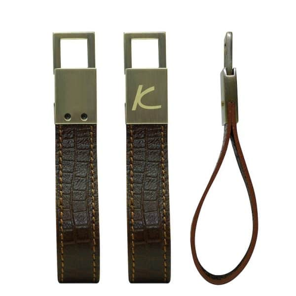 Wittet Croco Leather Keyholder - Corporate Gifts - Brown Color