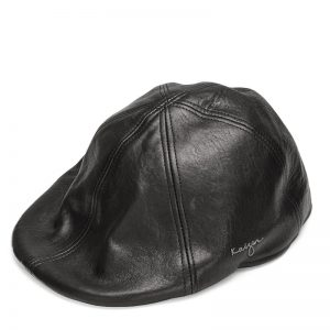 Leather Golf Hat - Black, Brown Color