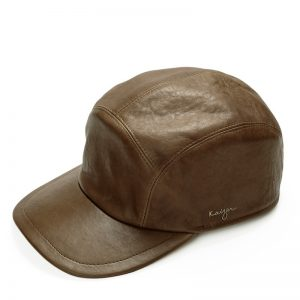 Leather Baseball Hat - Black, Brown, Taupe Color