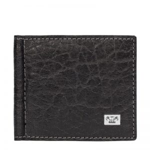 Ridge Leather Money Clip Wallet For Men - Black, Dark brown, Brown Croco Color