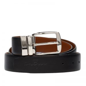 Leather Belt Reversible - Black & Dark Brown Color