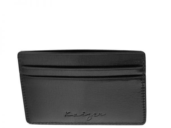 Credence Leather Business Card Holder Black color