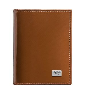 Infinity Leather Business Card Holder Brown & Black KZ921