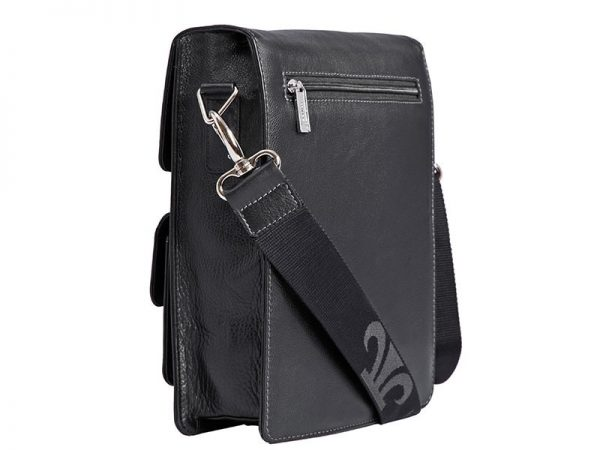 Zenith Italian Leather Messenger Bag For Men in Black & Brown Color KZ1309