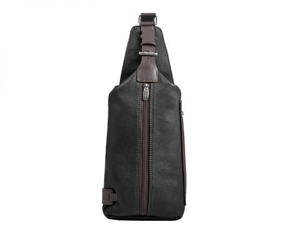 City Leather Body Bag For Men in Black & Brown Colors KZ1317