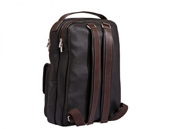 City Leather Backpack For Men available in Black & Brown Color KZ1336