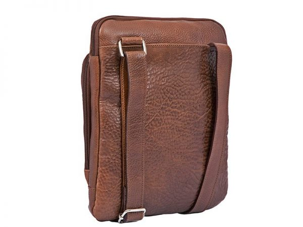 City Crossbody Leather Sling Bag For Men in Black & Brown Color KZ1337