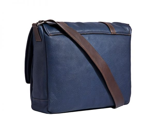 City Men's Leather Messenger Bag In Various Colors