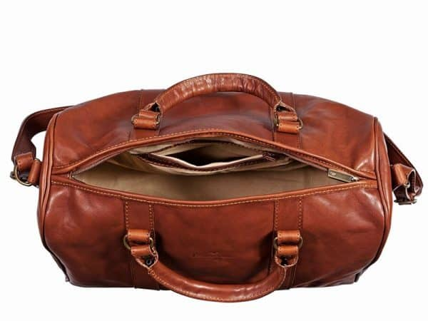 Cavalry Overnighter Leather Travel Bag For Men In UAE