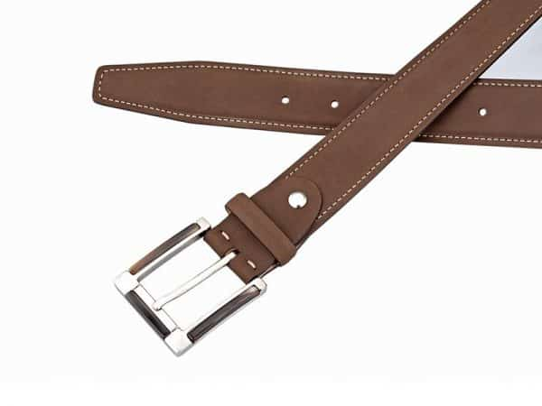 Leather Belt in Brown color