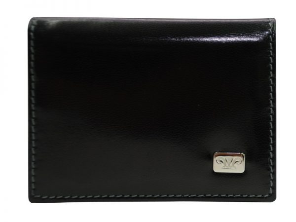 Zenith Leather Cardholder - Black Color - Pure Italian Leather