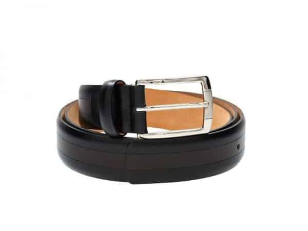 Binario Leather Mixed color belts for men in Black/Brown & Black/Burgundy