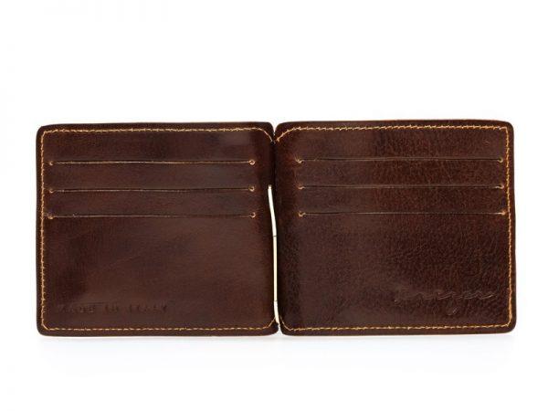 Statesman Leather Money Clip Wallet For Men - Black, Brown Color