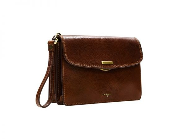 Statesman Leather Clutch - Black, Brown Color