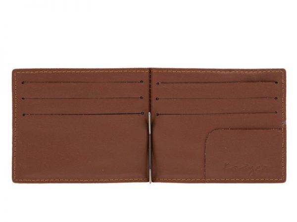Ridge Men's Leather Money Clip Wallet- Black, Dark brown, Brown Croco Color