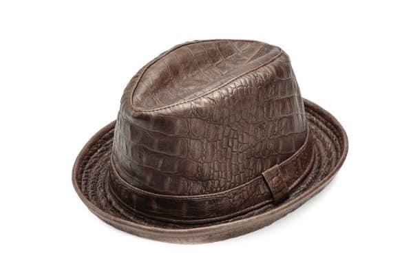 Leather Hat (Fedora croco) KZ1914