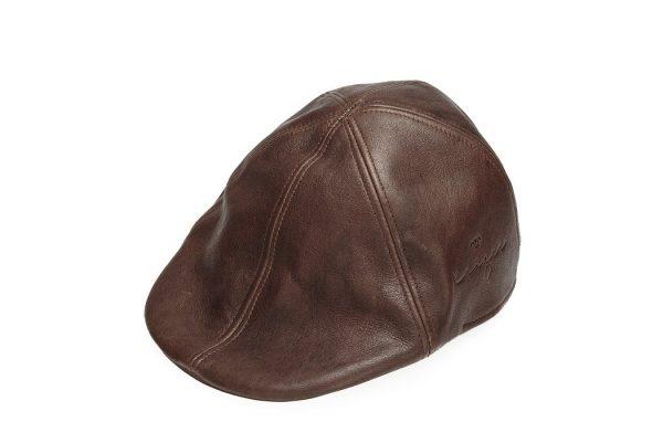 Leather Golf Hat - Black, Brown Color