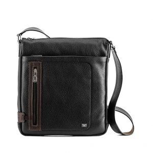 City Cross Body Leather Messenger Bag For Men