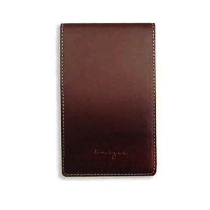 Duncan Leather Notepad - Black, Brown Color