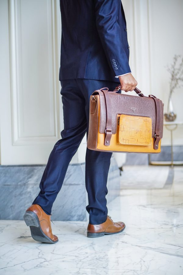 Insignia Leather business/laptop bag